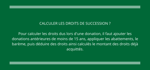 calculer les droits de succession